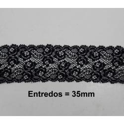 Entredos 3,5 cm negro