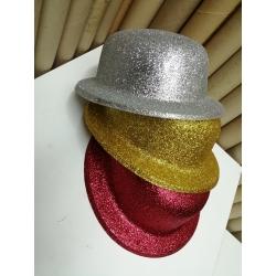 Sombrero bombín purpurina